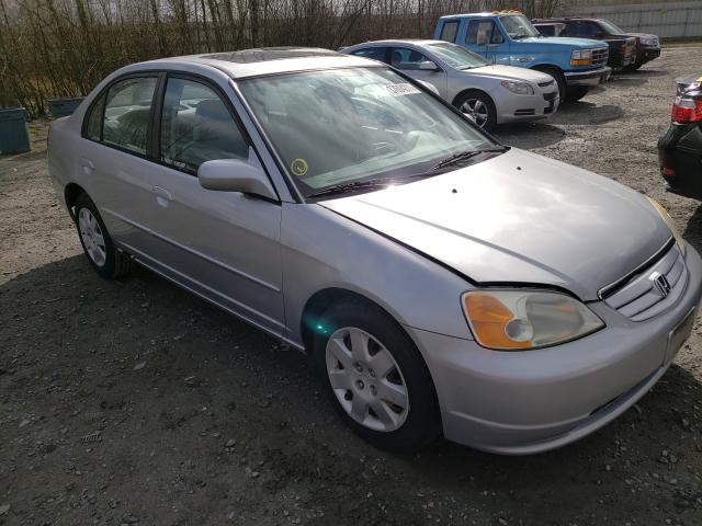 Salvage cars for sale from Copart Arlington, WA: 2002 Honda Civic EX