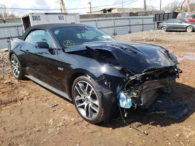 Salvage cars for sale from Copart Grantville, PA: 2015 Ford Mustang GT