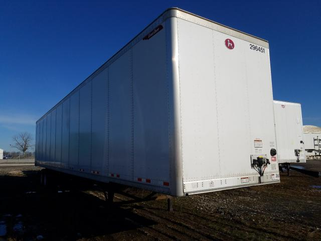 Salvage trucks for sale at Cicero, IN auction: 2020 Great Dane DRY Van