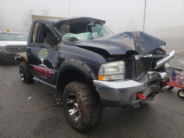 Salvage cars for sale from Copart Exeter, RI: 2004 Ford F350 SRW S