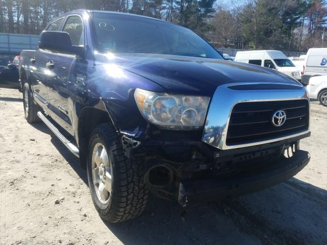 Salvage cars for sale from Copart Mendon, MA: 2007 Toyota Tundra CRE