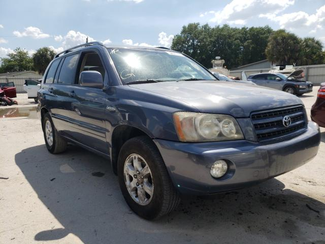 Salvage cars for sale from Copart Punta Gorda, FL: 2002 Toyota Highlander