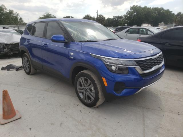 Salvage cars for sale from Copart Riverview, FL: 2021 KIA Seltos LX