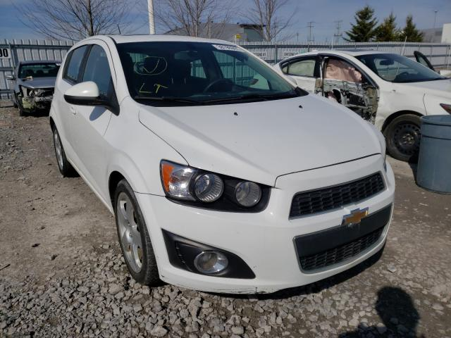 Salvage cars for sale from Copart Bowmanville, ON: 2015 Chevrolet Sonic LT
