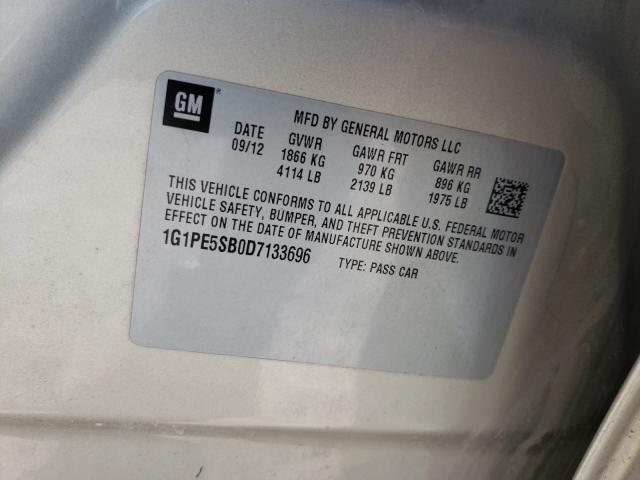 2013 CHEVROLET CRUZE LT 1G1PE5SB0D7133696