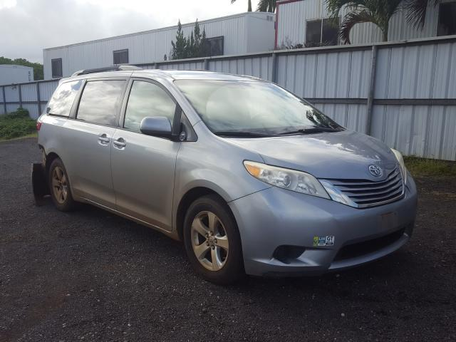 Salvage cars for sale from Copart Kapolei, HI: 2015 Toyota Sienna LE