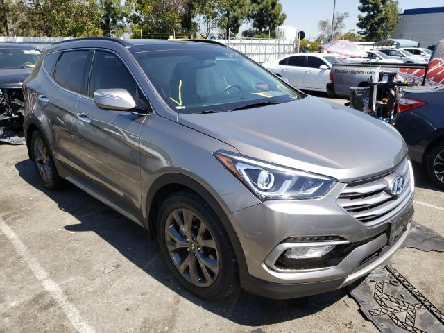 Salvage cars for sale from Copart Rancho Cucamonga, CA: 2017 Hyundai Santa FE S