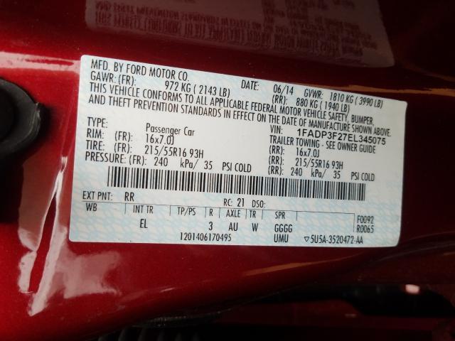 2014 Ford FOCUS | Vin: 1FADP3F27EL345075