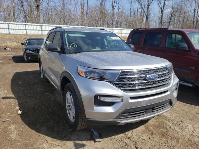 Salvage cars for sale at Davison, MI auction: 2021 Ford Explorer X
