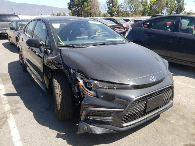 Salvage cars for sale from Copart Rancho Cucamonga, CA: 2021 Toyota Corolla SE
