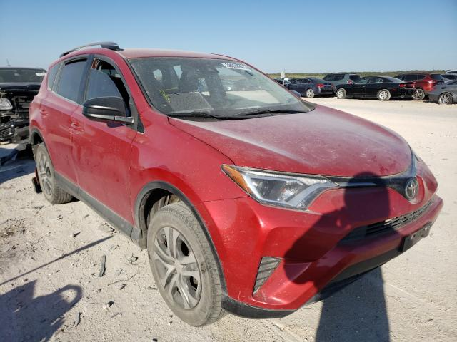 Salvage cars for sale from Copart New Braunfels, TX: 2017 Toyota Rav4 LE
