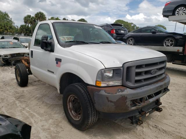 Salvage cars for sale from Copart Fort Pierce, FL: 2002 Ford F350 SRW S
