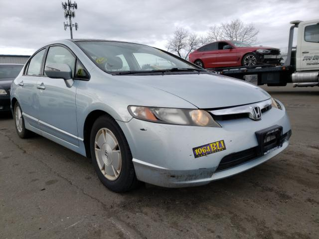 Salvage cars for sale from Copart Brookhaven, NY: 2008 Honda Civic Hybrid