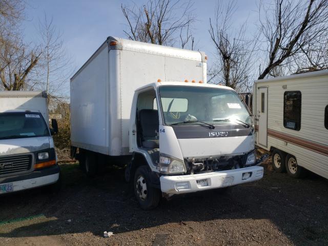 Salvage trucks for sale at Woodburn, OR auction: 2007 Isuzu NPR