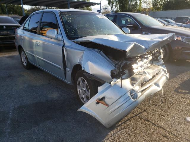 Salvage cars for sale from Copart Colton, CA: 2004 Hyundai Accent GL