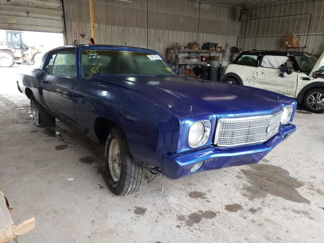 Chevrolet Montecarlo salvage cars for sale: 1970 Chevrolet Montecarlo