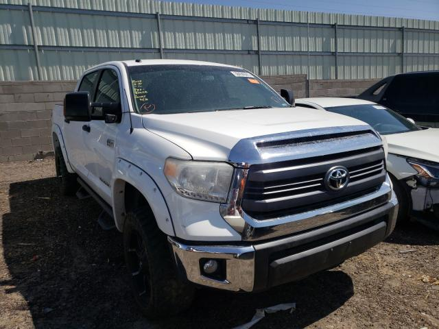 Salvage cars for sale from Copart Albuquerque, NM: 2015 Toyota Tundra CRE