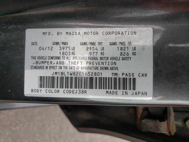 2012 MAZDA 3 I JM1BL1W82C1652801