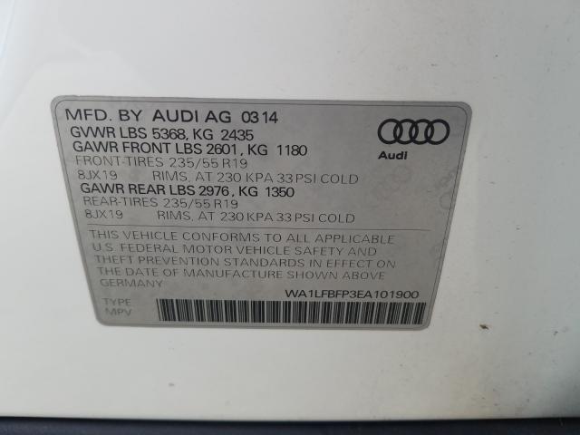 2014 AUDI Q5 PREMIUM WA1LFBFP3EA101900