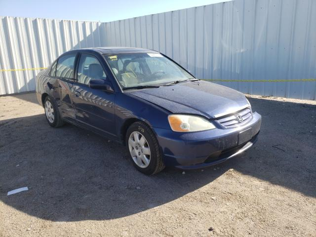 Salvage cars for sale from Copart Wichita, KS: 2002 Honda Civic