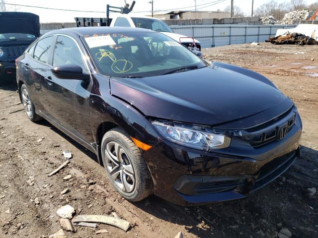Salvage cars for sale from Copart Hillsborough, NJ: 2017 Honda Civic LX