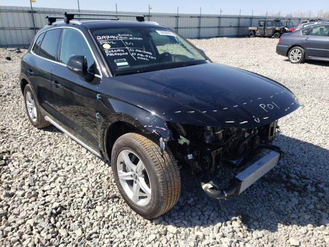 Salvage cars for sale from Copart Appleton, WI: 2021 Audi Q5 Premium
