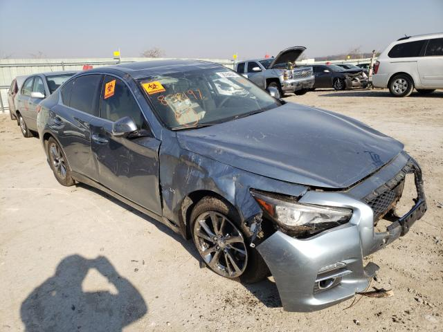 Salvage cars for sale from Copart Kansas City, KS: 2017 Infiniti Q50 Premium