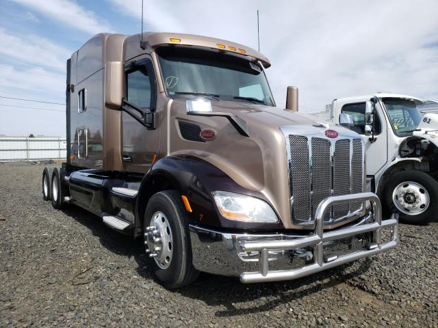Salvage cars for sale from Copart Airway Heights, WA: 2015 Peterbilt 579