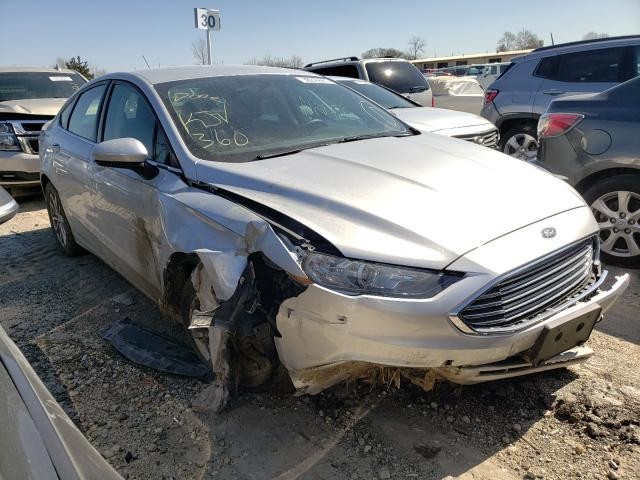 Salvage cars for sale at Indianapolis, IN auction: 2017 Ford Fusion SE