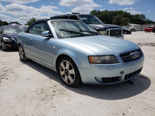 Salvage cars for sale from Copart Punta Gorda, FL: 2006 Audi A4 1.8 Cabriolet