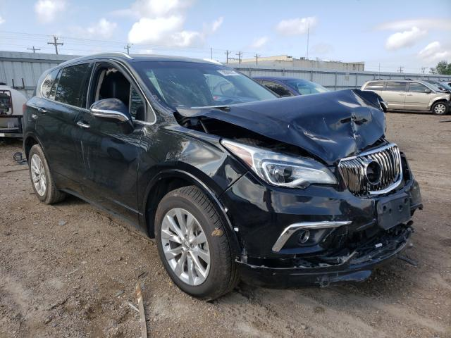 Salvage cars for sale from Copart Mercedes, TX: 2017 Buick Envision E