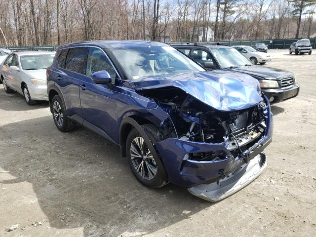 Salvage cars for sale from Copart Candia, NH: 2021 Nissan Rogue SV