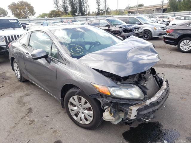 Salvage cars for sale from Copart Miami, FL: 2012 Honda Civic LX