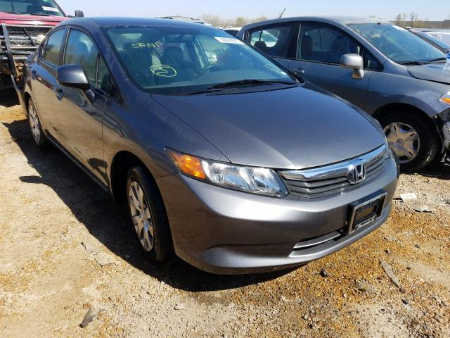 Salvage cars for sale from Copart Bridgeton, MO: 2012 Honda Civic LX
