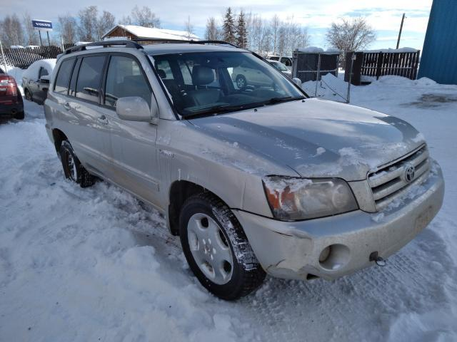 Salvage cars for sale from Copart Anchorage, AK: 2005 Toyota Highlander