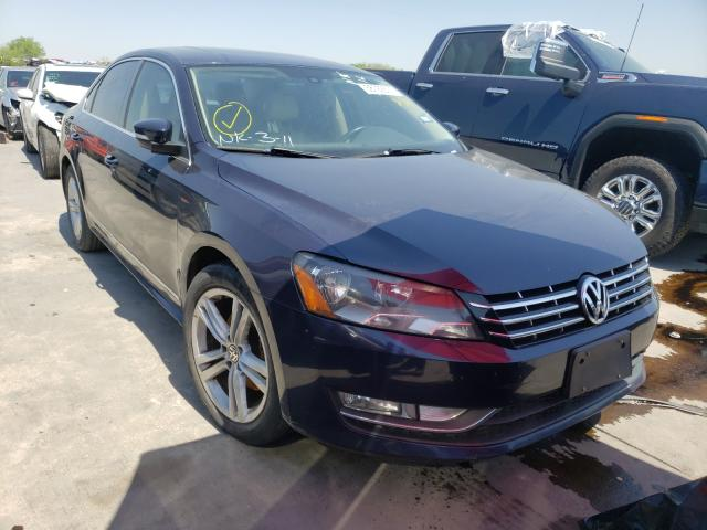 Salvage cars for sale from Copart Grand Prairie, TX: 2014 Volkswagen Passat SEL