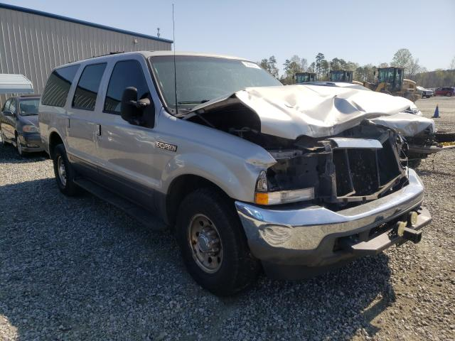 Salvage cars for sale from Copart Spartanburg, SC: 2002 Ford Excursion