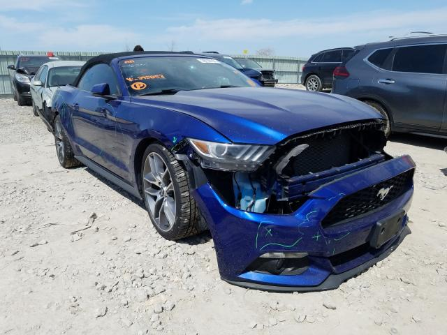 Salvage cars for sale from Copart Kansas City, KS: 2015 Ford Mustang