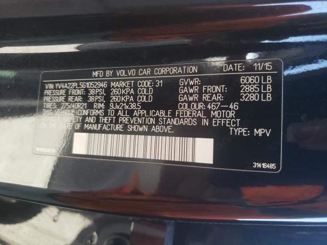 2016 Volvo XC90   Vin: YV4A22PL5G1052946