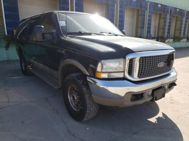 Salvage cars for sale from Copart Columbus, OH: 2002 Ford Excursion