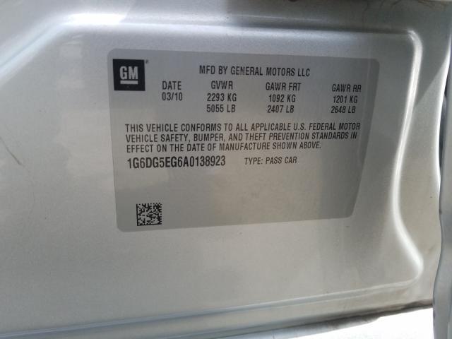 2010 CADILLAC CTS LUXURY 1G6DG5EG6A0138923