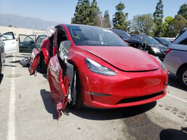 Salvage cars for sale from Copart Rancho Cucamonga, CA: 2021 Tesla Model Y