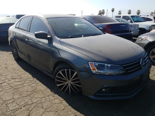 Salvage cars for sale from Copart Colton, CA: 2016 Volkswagen Jetta Sport