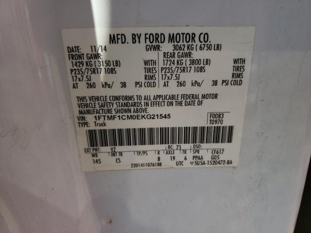 2014 FORD F150 1FTMF1CM0EKG21545