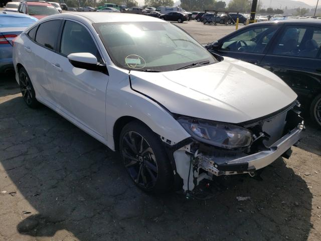 Salvage cars for sale from Copart Colton, CA: 2020 Honda Civic Sport