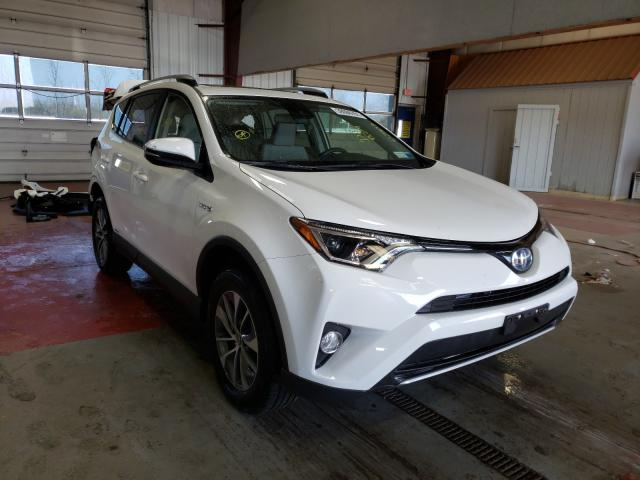 Salvage cars for sale from Copart Angola, NY: 2017 Toyota Rav4 HV LE