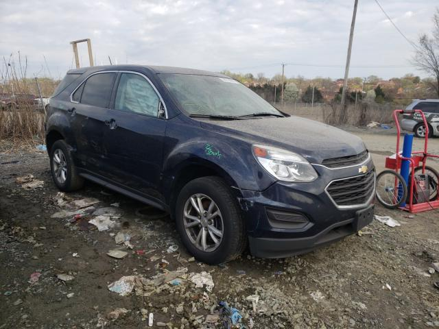 Salvage cars for sale at Baltimore, MD auction: 2017 Chevrolet Equinox LS