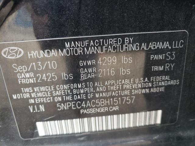 2011 HYUNDAI SONATA SE 5NPEC4AC5BH151757