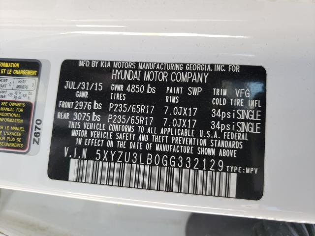 2016 HYUNDAI SANTA FE S 5XYZU3LB0GG332129