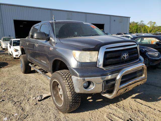 Salvage cars for sale from Copart Jacksonville, FL: 2010 Toyota Tundra CRE